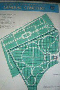 Map of Shrewsbury cemetery